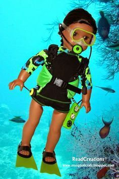 Arts and Crafts for your American Girl Doll: Scuba Diving - overview for American Girl Doll