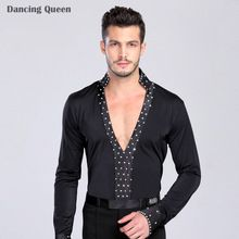 Like and Share if you want this  Men Latin Dance Top Black Ballroom Dance Shirt Collar V-Neck Brocaded With Hedge Set Auger M/L/Xl Man Long Sleeve Dance Dress     Tag a friend who would love this!  US $34.13    FREE Shipping Worldwide     Buy one here---> http://hyderabadisonline.com/products/men-latin-dance-top-black-ballroom-dance-shirt-collar-v-neck-brocaded-with-hedge-set-auger-mlxl-man-long-sleeve-dance-dress/