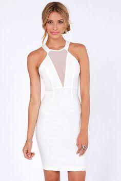 Around We Go Ivory Cutout Halter Dress at LuLus.com!