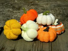 Halloween decor Crochet pumpkins 8 pcs by HomeToysByGalatova