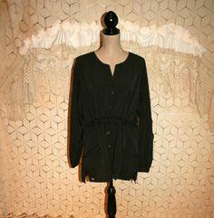 Oversized Jacket Black Jacket Women Jackets Smock by MagpieandOtis