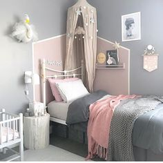 Our powder canopy featured in this dreamy room #numero74 #kidsdecor #kidsroom #kidsroomideas #girlroom #girlroomideas