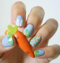 easter nail art Le Règne de la Carotte - Nail art de Pâques