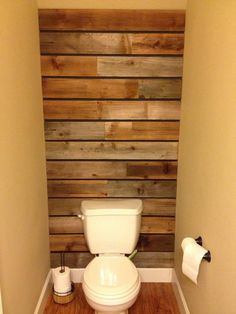 Wood pallet wall - thanks to my husband.