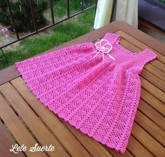 Click to view pattern for - Crochet bright dress for girl