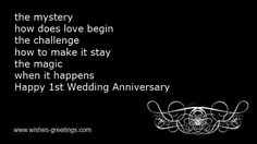 12 Best Happy 1st Anniversary Quotes Images Wedding Anniversary