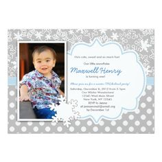 Boy Winter Wonderland #Birthday Party Invitation