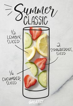 Plus learn how long to soak each ingredient for maximum flavor. #greatist https://greatist.com/eat/infused-water-recipes-and-how-to-make-them