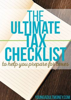 Don't wait until the last minute to find everything you need. Check out this tax checklist to help yourself prepare for taxes.