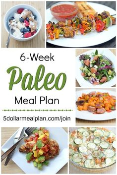 6 Week Paleo Meal Plan – Looking to eat healthy, feel better & maybe lose some weight? Here's a 6 Week Paleo Meal Plan that does it all for you – recipes, grocery lists, instructions, & tips. All the work is done for you! Paleo Meal Prep, Paleo Diet Plan, Diet Meal Plans, Paleo Food, Paleo Dinner, Dinner Meal, How To Start A Paleo Diet, Easy Paleo Meals, Dinner Ideas