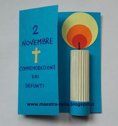 Per il 2 novembre Christmas Crafts For Kids, Simple Christmas, Sunday School Projects, Catholic Crafts, All Souls Day, All Saints Day, Bible Crafts, Paper Art, Diy And Crafts