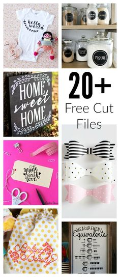 Over 20 FREE cut files for cut machines. The best things I ever bought myself was a Cricut and then a Silhouette Cameo. They opened so many creative doors.
