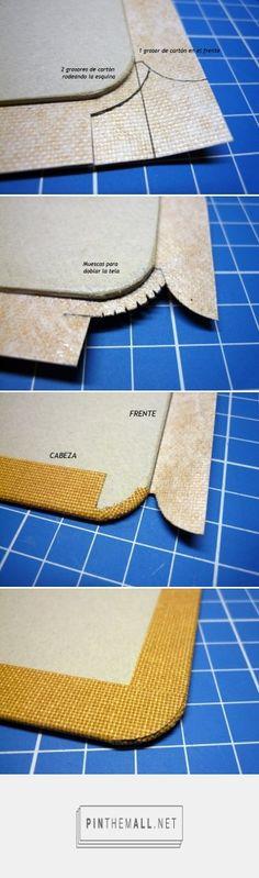 Como forrar una esquina redonda – Artes del Libro... - a grouped images picture…