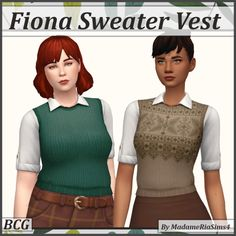 Plumbie's CC FINDS — BGC Found in the Sweater and Vest categories in... Autumn Inspiration, Knit Patterns, Sims 4, Cold Weather, Swatch, Vest, Formal, Sweaters, Jackets