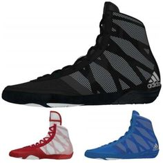 f9b2d487925 Adidas Boxing Pretereo III Boxing Boots Black Blue Red