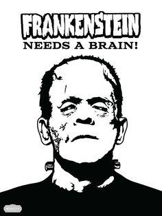 DIY Frankenstein Halloween Game - Three Little Monkeys Studio