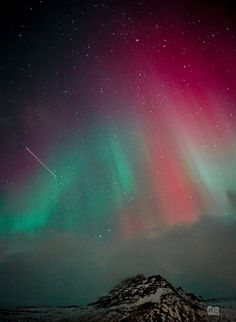 Northern Lights - Taken over Bolungarvík, Iceland
