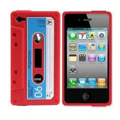 """Cassette tape iPhone cover. My son just asked, """"what's a cassette?"""""""