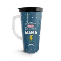 Vasito viajero – Poder de una súper mamá, encuentra este producto en nuestra tienda online. Travel Mug, Mugs, Tableware, Vase, Siempre Contigo, Store, Dinnerware, Tumblers, Tablewares