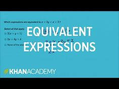 How to find equivalent expressions by combining like terms and using the distributive property Equivalent Expressions, Combining Like Terms, Sixth Grade Math, Algebraic Expressions, Distributive Property, Common Core Math, Math Resources, How To Apply, Math