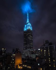 Light up Blue by @craigsbeds by newyorkcityfeelings.com - The Best Photos and Videos of New York City including the Statue of Liberty Brooklyn Bridge Central Park Empire State Building Chrysler Building and other popular New York places and attractions.