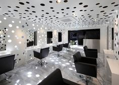 Perforated Beauty Salon by Yasunari Tsukada Design Photo Isn't this so cool?!   I think it would make you dizzy though.  lol