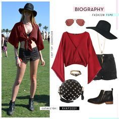 #CropTop #BellSleeve #Red #StreetStyle #Festival #Summer #Bohemian #Style #Fashion #BiographyMx