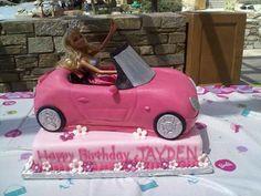 good idea how to make the Barbie car cake.