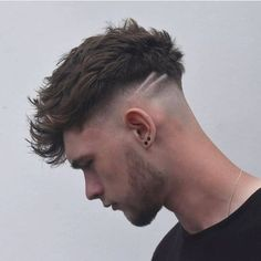 I'm just getting started ✂️ Trending Hairstyles For Men, Mens Hairstyles With Beard, Hair And Beard Styles, Hairstyles Haircuts, Haircuts For Men, Curly Hair Styles, Mens Undercut Hairstyle, Undercut Fade, Disconnected Undercut