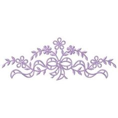 Gunold Embroidery Design: Floral Swag 2.06 inches H x 5.46 inches W