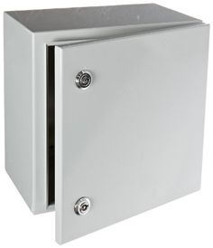 BUD Industries Series SNB Steel NEMA 4 Sheet Metal Box with Mounting Bracket 115164 Width x 115164 Height x 75564 Depth Smooth Gray Finish ** Check out the image by visiting the link.