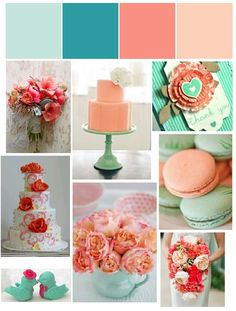 turquoise & coral is my new favourite wedding pallette