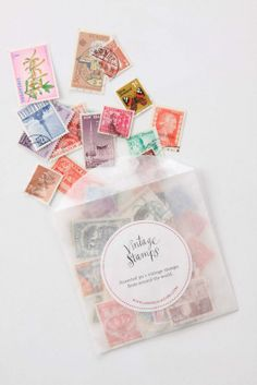 Anthropologie stamp collection