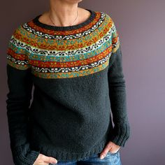 Crochet Patterns Sweter Ravelry: HeleenK & # s Miss Rachel Fair Isle Knitting Patterns, Knitting Charts, Knitting Designs, Knit Patterns, Knitting Projects, Hand Knitting, Crochet Woman, Knit Crochet, Pulls