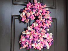 Birthday Number 2 - Ballooon Wreath - Balloon Door Decor - Balloon Number. $55.00, via Etsy.