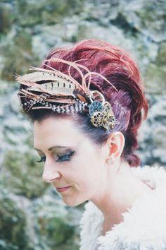 DIY Steampunk Wedding Hair Comb