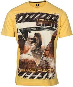 Huetrap Printed Men's Round Neck Yellow T-Shirt | Buy Huetrap Printed Men's Round Neck Yellow T-Shirt at Best Price in India | Flipkart.com