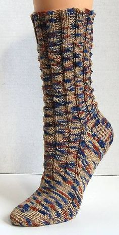 free knit sock pattern - Panda Superwash - Fishing Breakfast Socks - Crystal Palace Yarns