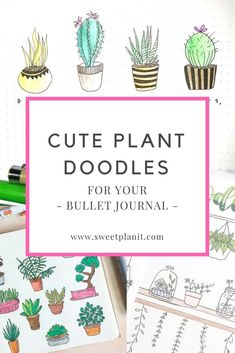 Cute Plant Doodles for Your Bullet Journal! Easy doodles anyone can draw - you don't need to be an artist! Bullet Journal Contents, Bullet Journal Key, Bullet Journal Layout, Bullet Journals, Doodle Inspiration, Journal Inspiration, Journal Ideas, Doodle Ideas, Journal Prompts