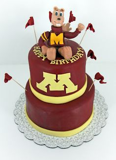 Minnesota Gopher Cake -hmmm I don't think Steve would like it but my family would!!