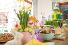 A delightful Easter spread by Belle's Patisserie Easter 2014, Table Decorations, Baking, Home Decor, Homemade Home Decor, Patisserie, Bakken, Bread, Backen