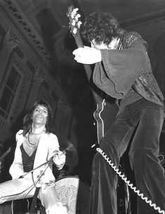 """Queen at Birmingham Town Hall, November via queenlive. Among the attendees, a Rob Halford later of Judas Priest. """"Queen were an incredible heavy metal band. I saw them on their first ever tour, at Birmingham Town Hall. They just blew me away. Queen Pictures, Queen Photos, Rare Pictures, Queen Images, Beautiful Pictures, We Will Rock You, I Still Love You, Brian May, John Deacon"""