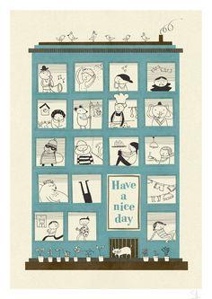 The magic house print on Etsy, $30.00