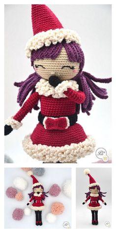 Amigurumi Ballerina Doll Free Pattern Mermaid Tail Pattern, Crochet Mermaid Tail, Crochet Cow, Crochet Amigurumi Free Patterns, Crochet For Boys, Free Crochet, Crochet Dinosaur, Crochet Christmas Decorations, Christmas Crochet Patterns