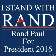 Rand Paul 2016! A man after my own heart & fellow KENTUCKIAN