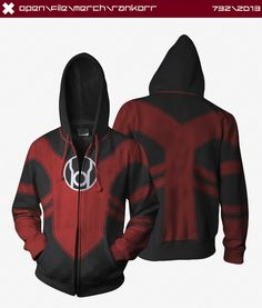 Red Lantern Hoodie by ~seventhirtytwo on deviantART