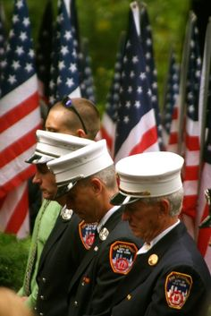 1000s of firemen traveled from points around the world to attend the memorial in Riverside Park.  10th Anniversary of 9/11 - Photo by Amy Laurel Hegy @A Tale of Two Tramps