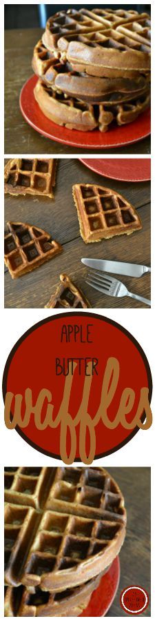 Dairy-, sugar-, and oil-free Apple Butter Waffles by An Unrefined Vegan.
