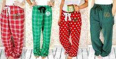 Monogrammed Christmas Pajama Pants-Youth and Adult! a4b1fd619
