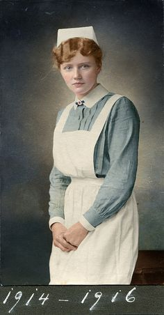 Portrait of a nurse, Germany, ca. 1915-1914